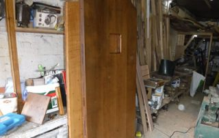 a photo of a door currently being made to the customers requirements