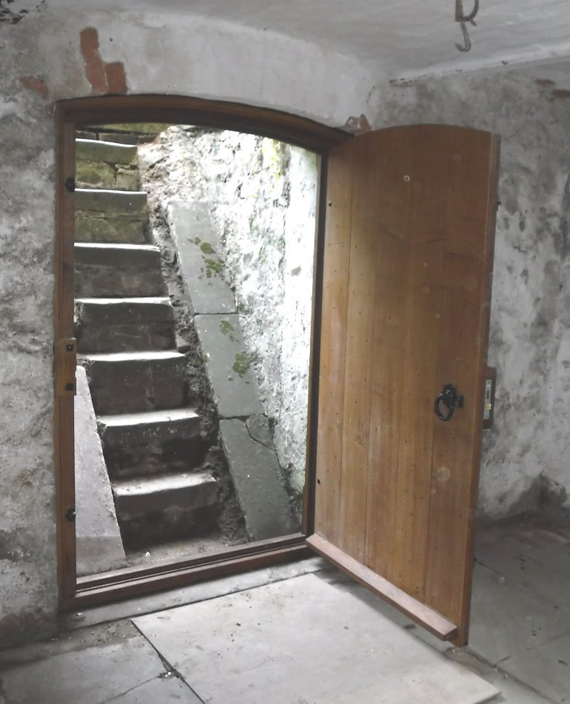 completed cellar door at a vicarage in wales