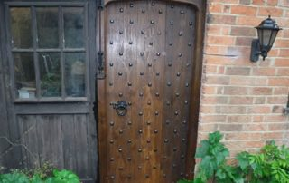 completed cross boarded traditional door