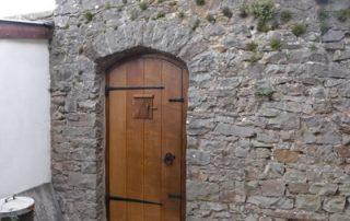 completed period door with hatch