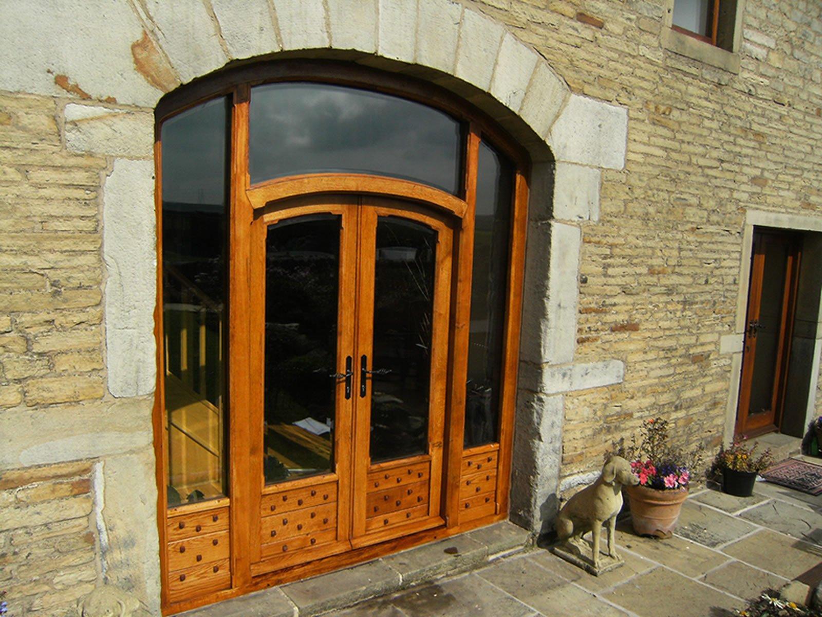 completed wooden big barn doors