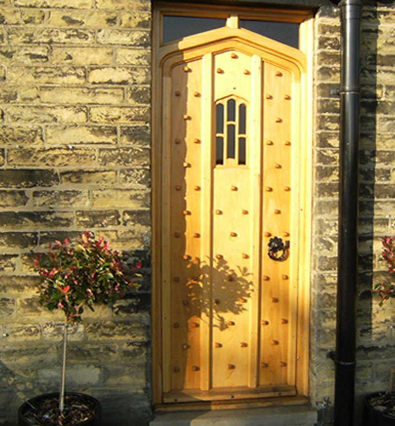 new period door installed at a customers home
