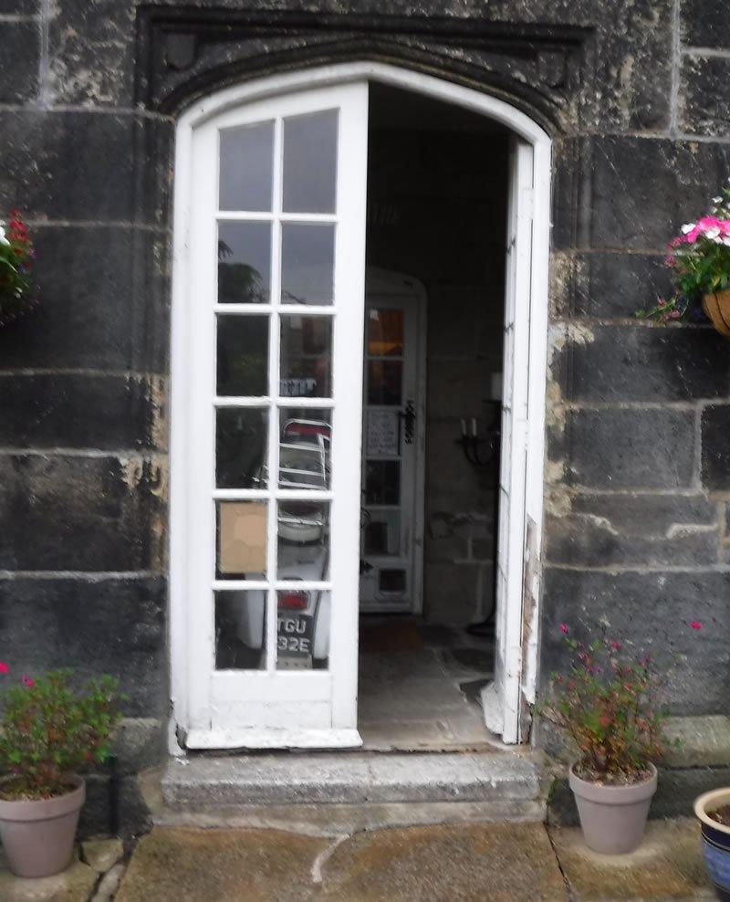 old soft wood doors