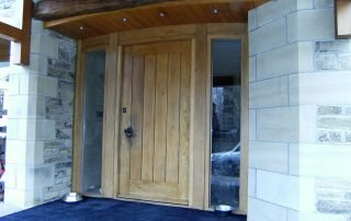 big contemporary door from the outside