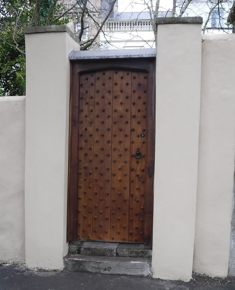 large cross boarded door