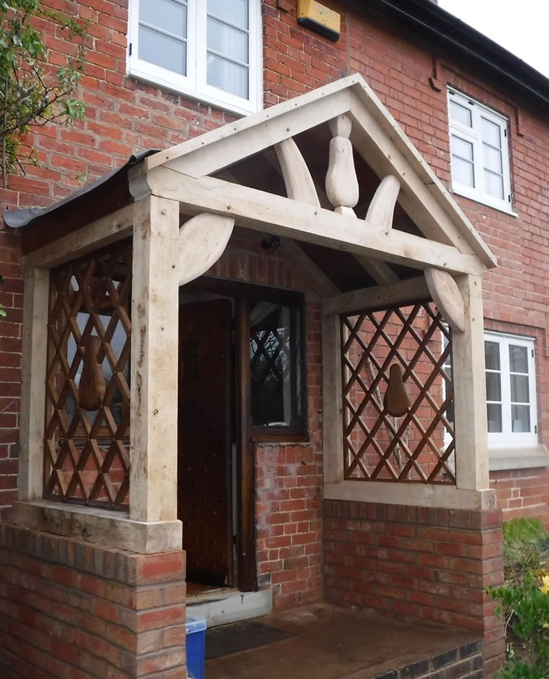 new english oak porch and door