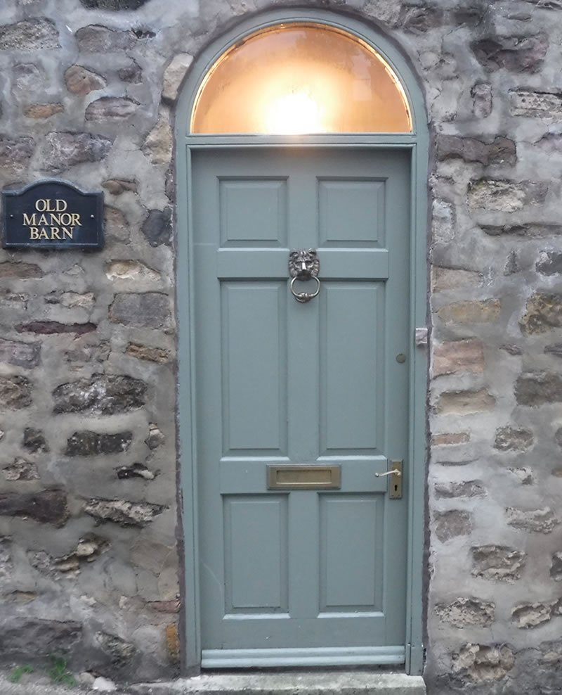 old 1980s style door in situ
