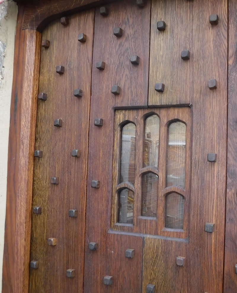 period door with glass squint