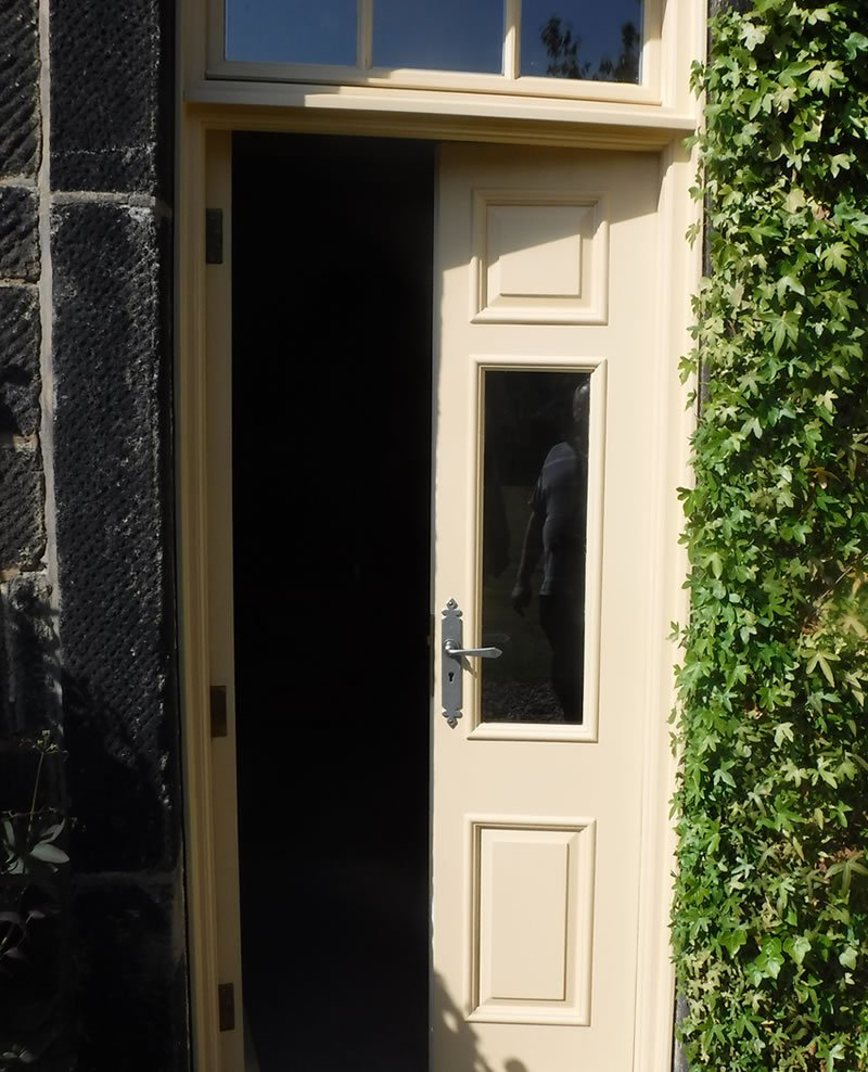 completed door open for a listed building in halifax