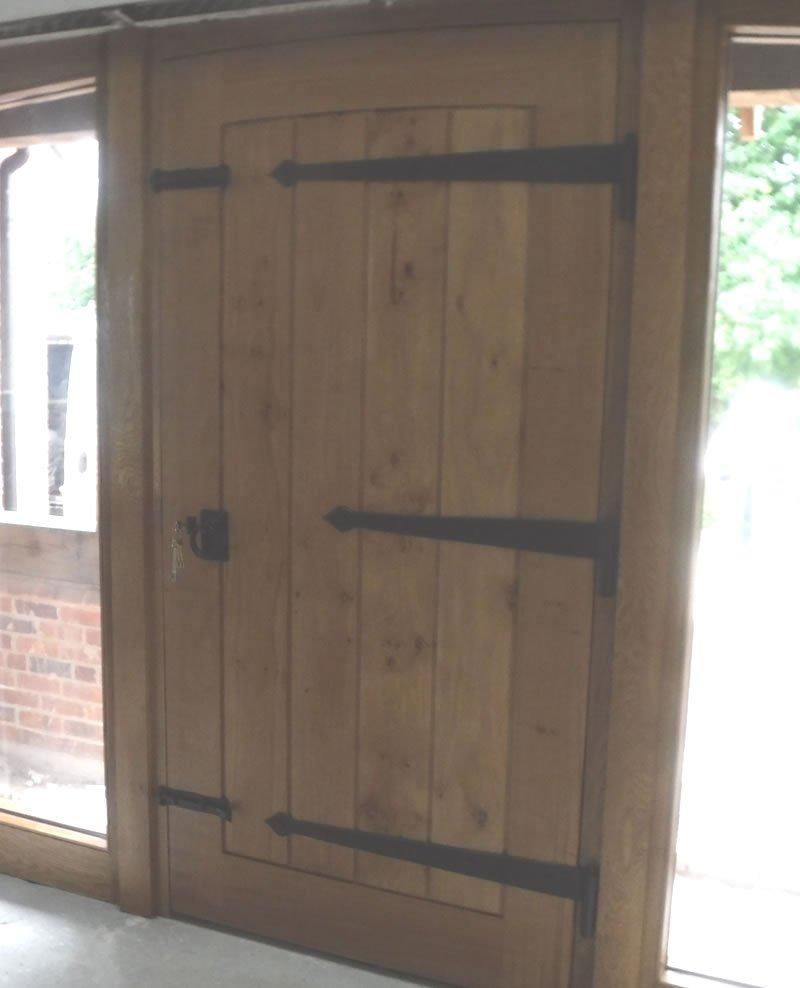 farmhouse oak door from the inside