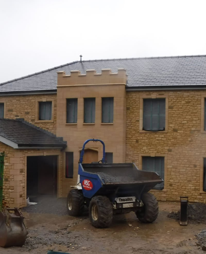 new house being built in south wales