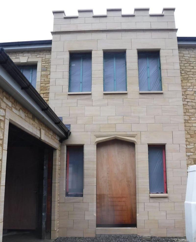 new house build with no front door